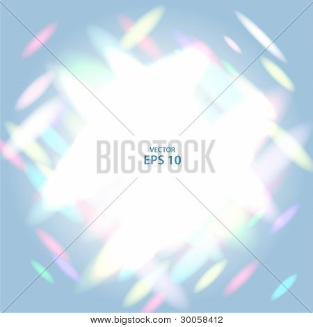 Rainbow lights reflects abstract vector background