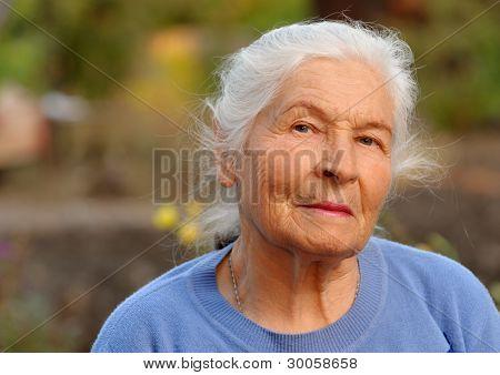 Portrait Of The Elderly Woman