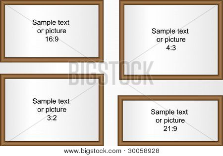 Four Rounded Frames