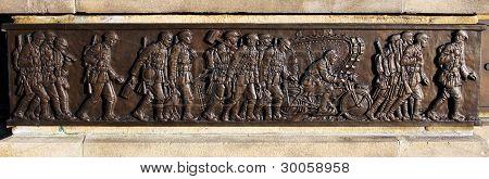 Brass War Memorial Carving
