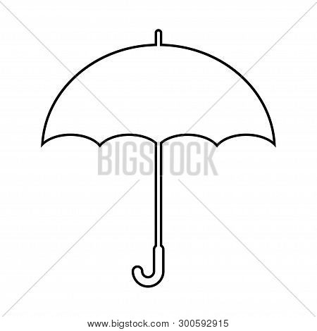 Umbrella Icon In Trendy Flat Style Isolated On Background. Umbrella Icon Page Symbol For Your Web Si