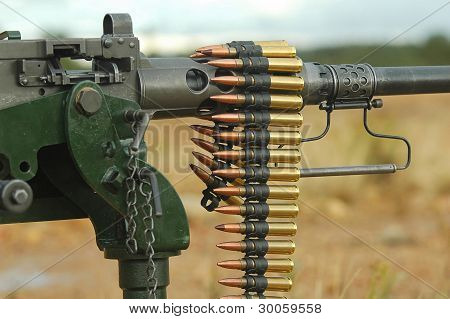 Ammunition Rib On A Anti-aircraft Machine Gun