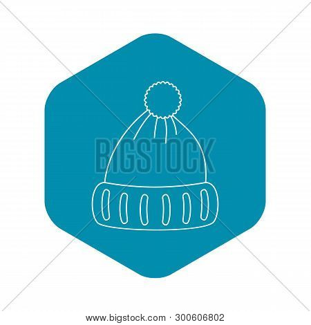Woolen Hat Icon. Outline Illustration Of Woolen Hat Vector Icon For Web