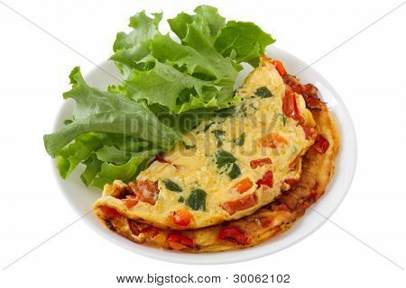 Omelet With Lettuce
