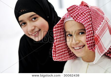Arabic Muslim brother and sister
