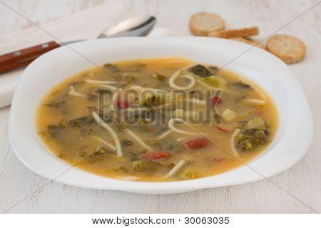 Bean Soup With Spaghetti