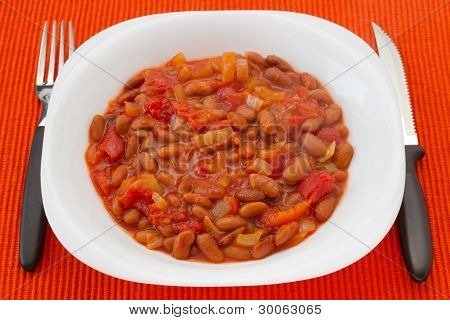 Boiled Beans With Tomato