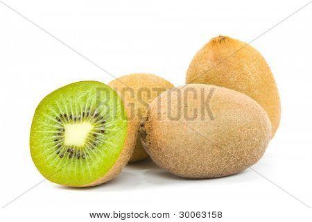 kiwi isolated on white background
