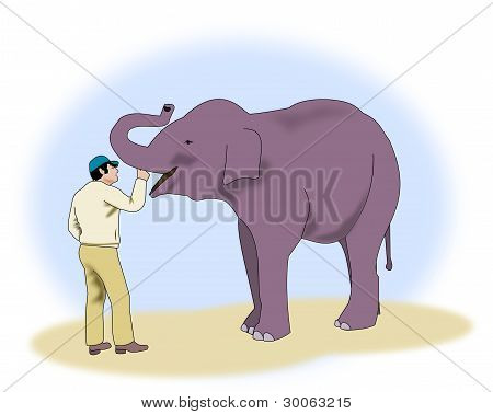 Man with Elephant