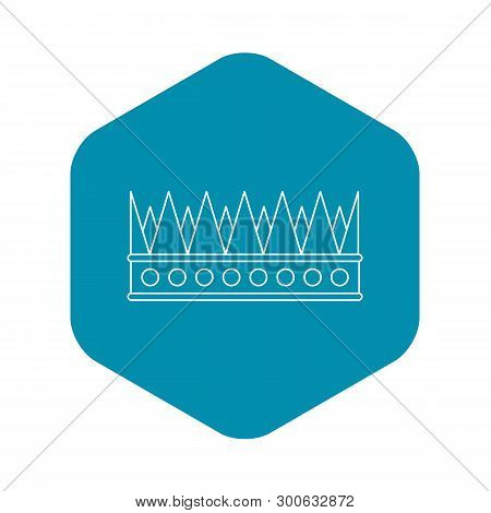 Regal Crown Icon. Outline Illustration Of Regal Crown Vector Icon For Web