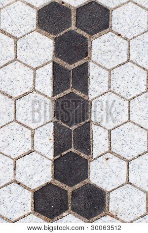 Letter I - Floor Tile Sign
