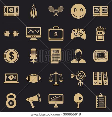 Sweepstake Icons Set. Simple Set Of 25 Sweepstake Vector Icons For Web For Any Design