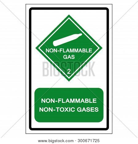 Non Flammable Non Toxic Gases Symbol Sign ,vector Illustration, Isolate On White Background Label .e