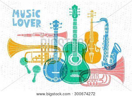Musical Instruments, Guitar, Fiddle, Violin, Clarinet, Banjo, Trombone, Trumpet, Saxophone, Sax, Mus