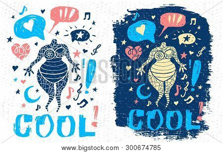 Funny Cool Dude Character Theme Music Doodle Style Lettering Slogan Graphic Art For T Shirt Design P