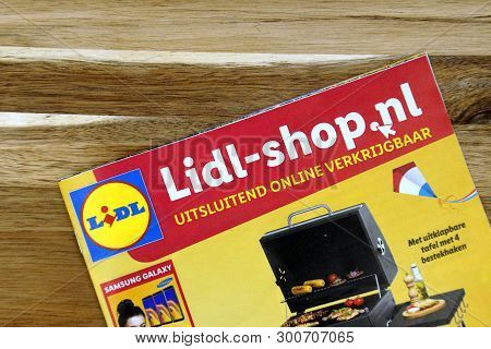 Amsterdam, The Netherlands - May 12, 2019: Grocery Shop Sale Flyer Of Supermarket Lidl Advertising F