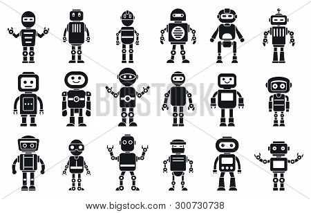 Humanoid Character Icons Set. Simple Set Of Humanoid Character Vector Icons For Web Design On White