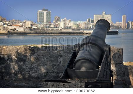 The Malecón of Havana from the Divina Pastora.
