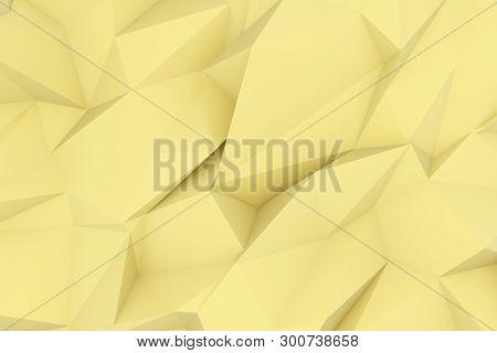 Cgi, Random Geometric, Backdrop For Design Texture, Background. 3D Render.