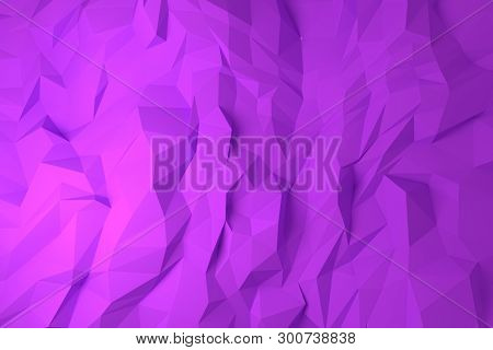 Illustrations Of Cgi, Random Geometric, Backdrop For Graphic Design Or Wallpapers. 3D Render.