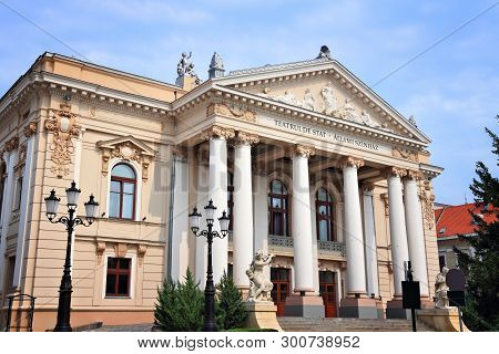 National Theater In Oradea, Bihor County, Romania - Old Building In Europe.