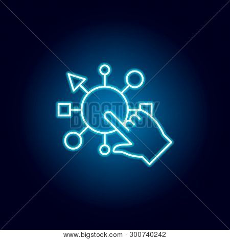 Tap, Touchpad Icon. Element Of Money Diversification Illustration. Signs And Symbols Icon For Websit