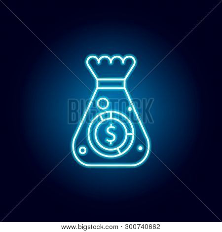 Money Sack Icon. Element Of Money Diversification Illustration. Signs And Symbols Icon For Websites,