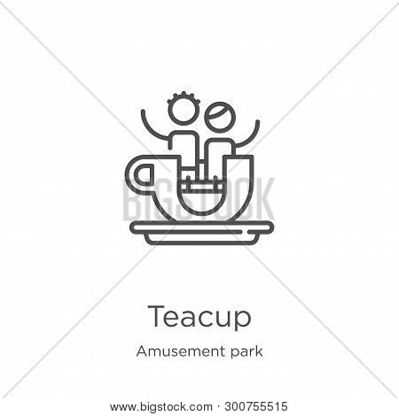Teacup Icon. Element Of Amusement Park Collection For Mobile Concept And Web Apps Icon. Outline, Thi