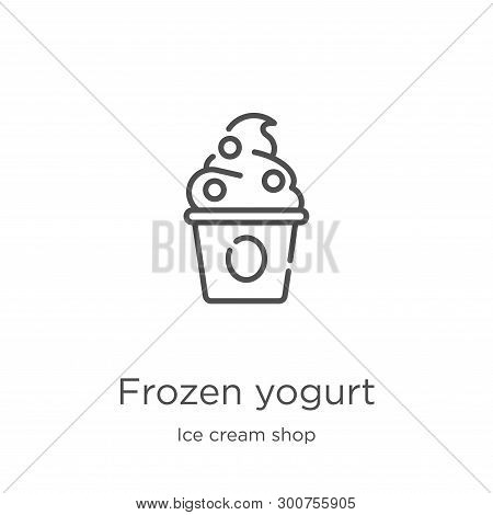Frozen Yogurt Icon. Element Of Ice Cream Shop Collection For Mobile Concept And Web Apps Icon. Outli