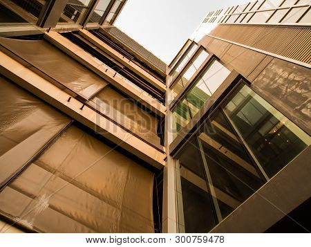 Low Vantage Point To The High Rise Building