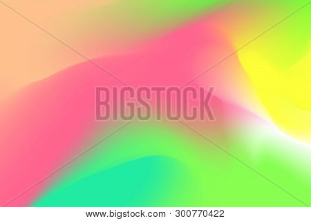 Blurred Pink And Green Pastel Colors Soft Wave Colorful Effect For Background Abstract, Illustration
