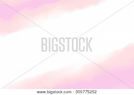 Painting Digital Pink Colors Soft In Concept Water Color Art, Abstract Frame Pink White Pastel Soft