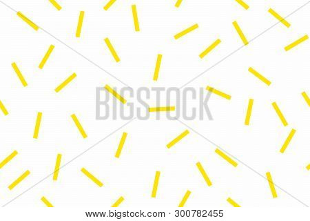 Seamless White Background With Yellow Rectangles. The Rectangles Are Arranged Randomly.