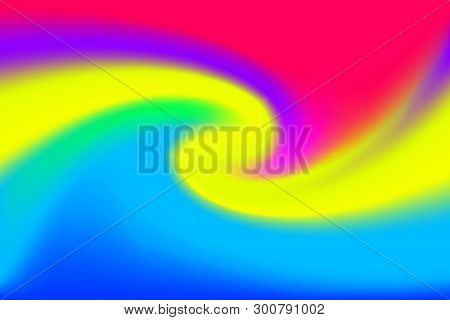Blurred Pink And Blue Colors Twist Wave Colorful Effect For Background, Illustration Gradient In Wat