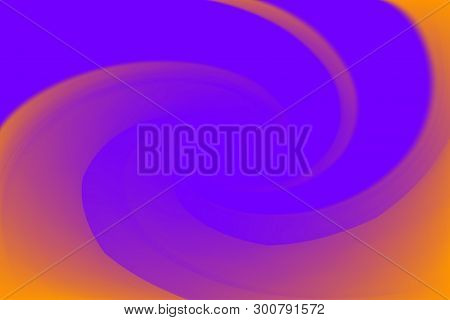 Blurred Purple And Orange Colors Twist Wave Colorful Effect For Background, Illustration Gradient In