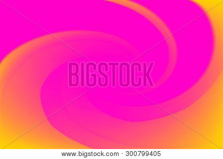 Blurred Pink And Yellow Colors Twist Wave Colorful Effect For Background, Illustration Gradient In W