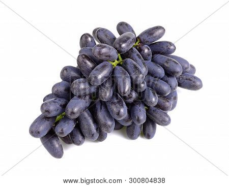 Purple Seedless Grapes Isolated On White Background