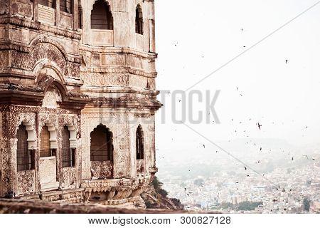 Jaisalmer Fort Also Called Golden Fort, Sonar Quila Or Sone Ka Quila In Desert City Rajasthan India.