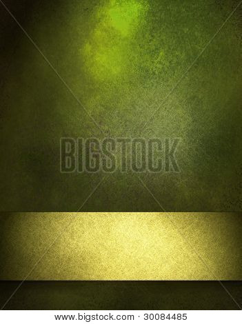 Green Background with Gold Ribbon