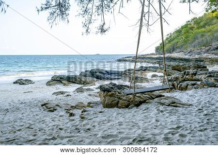 The Summer Holidays And Vacations Beach Background Concept For Relaxation At Ao Nuan Bay On Koh Same