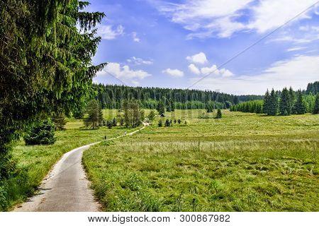 Romantic Landscape In The Schwarzwassertal In The Erzgebirge In Saxony / Germany