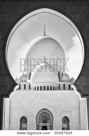 view of grand mosque from inside