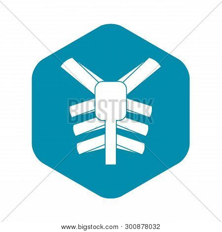 Human Thorax Icon. Simple Illustration Of Human Thorax Vector Icon For Web