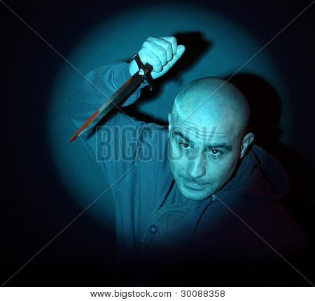 Scary Man With Knife