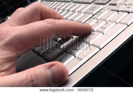 Man Using Number Pad