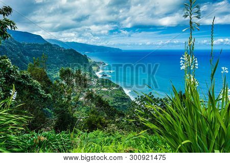 Aerial View Of The Northern Coast Of Madeira Islands, Portugal