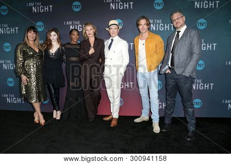 LOS ANGELES - MAY 9:  Patty Jenkins, India Eisley, Golden Brooks, Connie Nielsen, J Mays, Chris Pine at the
