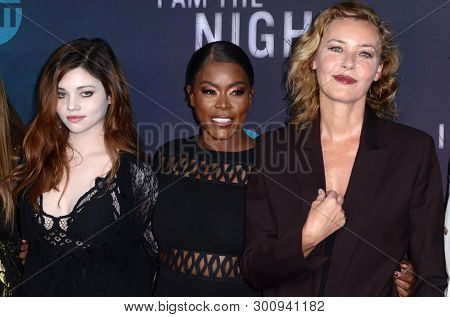 LOS ANGELES - MAY 9:  India Eisley, Golden Brooks, Connie Nielsen at the