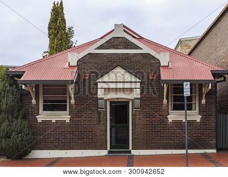 Armidale, Australia - April 10, 2019: Variety Of Heritage Listed Building Facades Erected In Late 19
