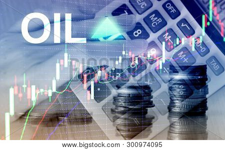 Oil Trend Up. Crude Oil Price Stock Exchange Trading Up. Price Oil Up. Arrow Rises. Abstract Busines
